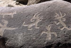 Grabados en piedra en Miculla