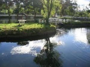Laguna artificial en Cajamarca