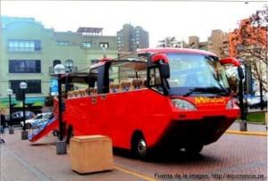 Bus turistico que entrará al mar del Callao - Mirabús