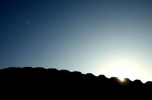 movimiento del sol en las Trece Torres de Chanquillo