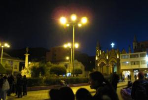 Parque Pino frente al Santuario de la Virgen de la Candelaria