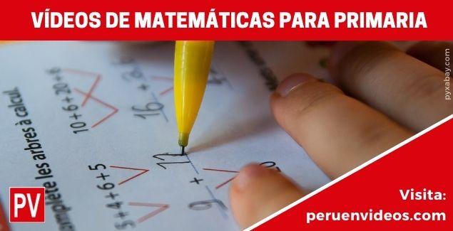 Aprende en Casa con Vídeos de Matemáticas para Primaria