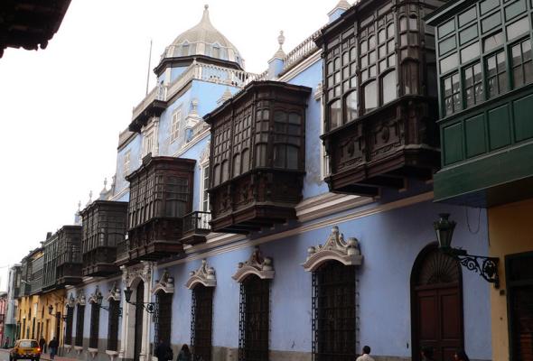 Palacio de Osambela, la casa de los cinco balcones en Lima