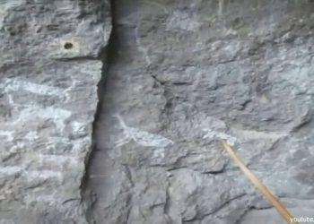 Antiguas representaciones pictóricas de animales en las Cuevas de Sumbay en Arequipa