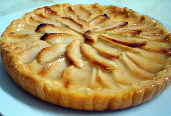 Postre dulce de manzana