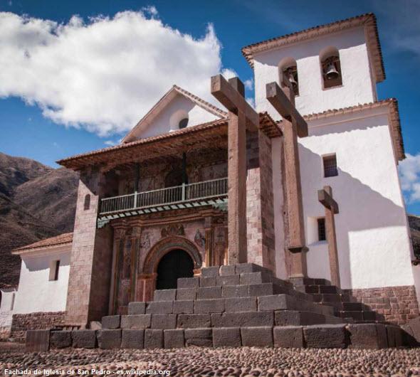 exterior de la Iglesia de Andahuaylillas