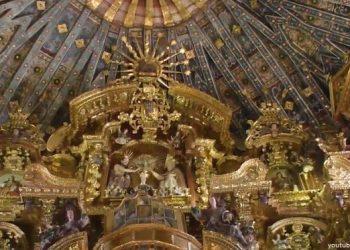 Vista del altar de la Capilla Sixtina de América