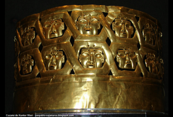 Corona de las catorce caras en Kuntur Wasi