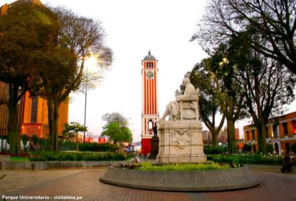 Foto del Parque Universitario en Lima