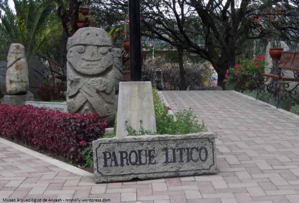 Parque lítico en el Museo de Ancash