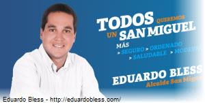 Foto de Eduardo Bless, nuevo alcalde de San Miguel en Lima Perú 2015-2018