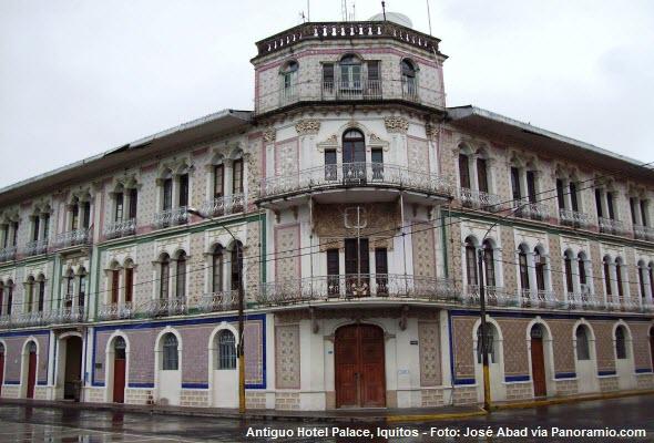 Antiguo Hotel Palace en Iquitos, Perú.