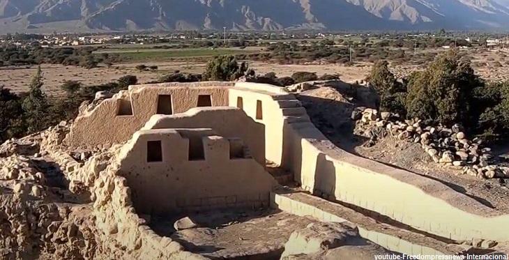 Vista del centro administrativo Inca Los Paredones en Ica