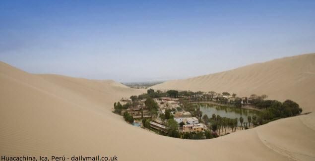 oasis en el desierto de Ica