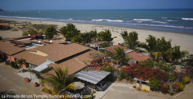 The Inn of The Tumpis in front of the beach in Tumbes