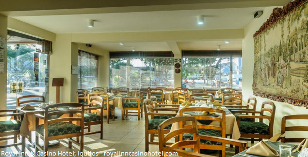 Restaurant of Royal Inn & Casino Hotel in Iquitos