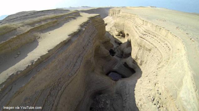 Boquerón del Cañón de los Perdidos en Ica, Perú