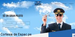 Foto portada web ESPAC con cursos para manejar aviones comerciales