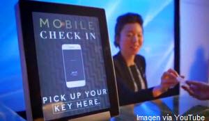 Dispositivo digital para check in en hotel