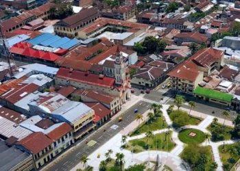 Vista panorámica del centro de la ciudad de Iquitos