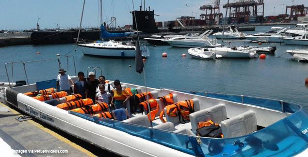 Paseo en lancha en el Callao - Lancha equipada para Islas Palomino vía Mar Adentro