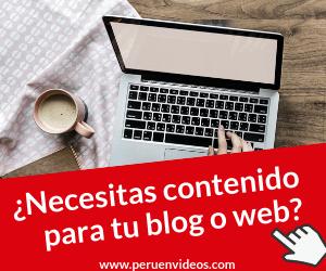 Servicio de redacción de contenidos para blogs y webs en Lima
