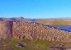 Vista de Las Chullpas de Sillustani en Puno