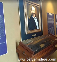 Retrato de Miguel Grau Seminario en El Museo del Submarino Abtao en el Callao