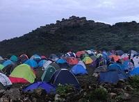 Campamento en la Ciudadela Pre Inca de Rúpac en Huaral