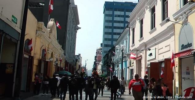 Jirón de la Unión en Lima Perú