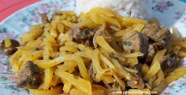 receta y preparación de olluco con carne