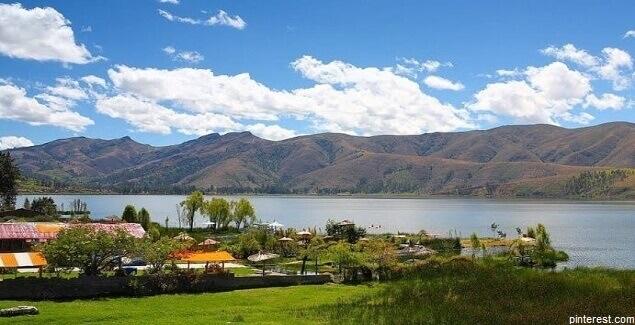 Conozca el espejo de agua de la Laguna de Paca en Junín