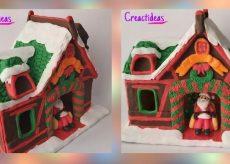 Adornos Navideños en Cerámica al Frío: Casita de Navidad
