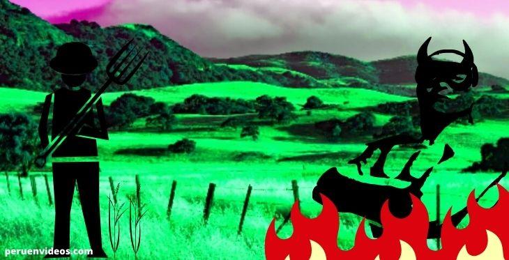 El agricultor y el diablo en la leyenda piedra Alto Larán
