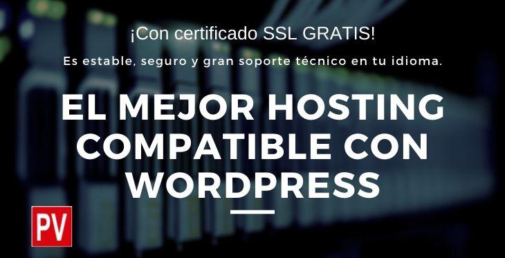 Comprar Hosting Compatible con WordPress de WebEmpresa