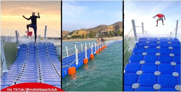 Primer muelle flotante en Perú, ubicado en playa Zorritos, en Tumbes, costa norte de Perú.