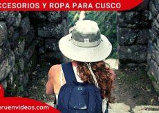 Ropa para viajar a Cusco