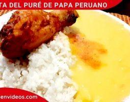 Receta del puré de papa peruano