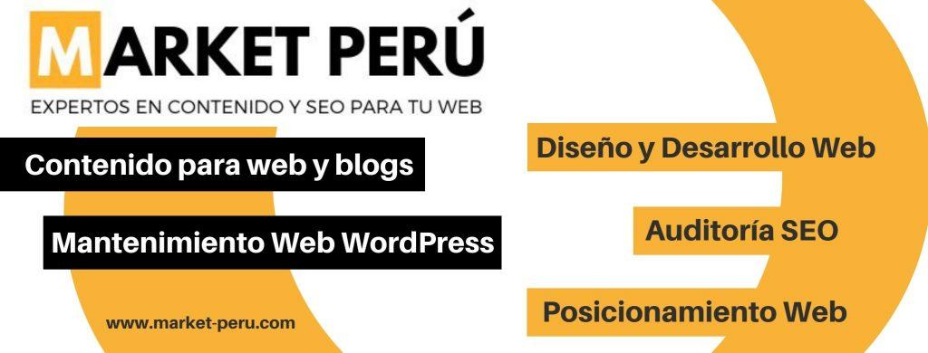 Market Perú, web con servicios de posicionamiento web en Lima