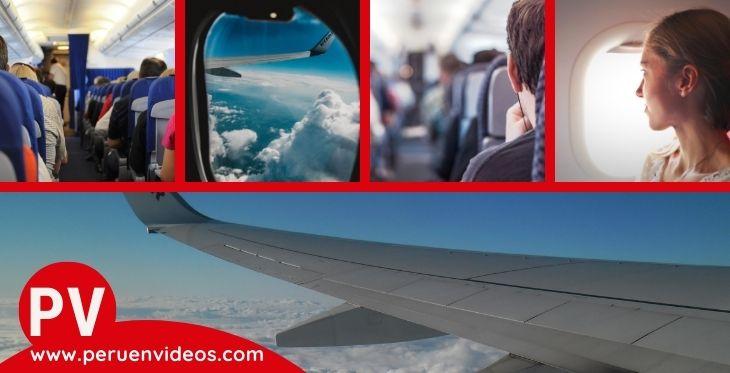 Imágenes de pasajeros en vuelo para el post almohadas para viajar en avión.