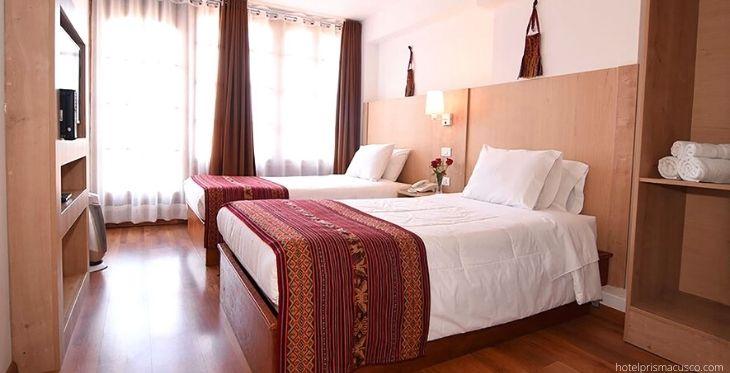 habitación doble en el hotel prisma cusco